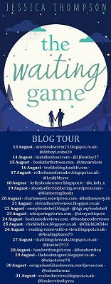 The waiting game blog tour poster