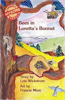 Bees in Lorettas bonnet by Lois Wickstrom