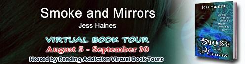 Smoke and Mirrors blog tour poster