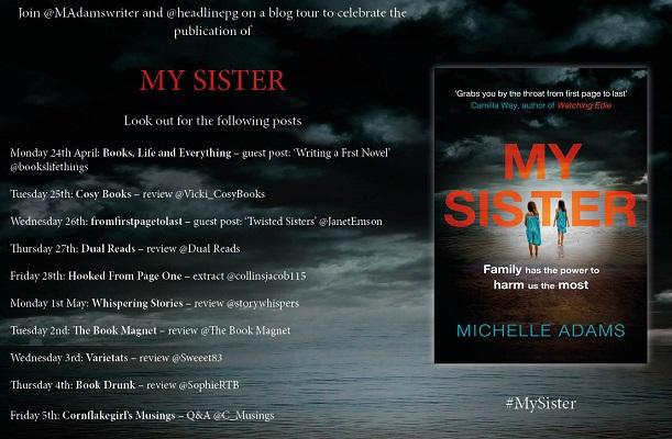 My Sister blog tour banner