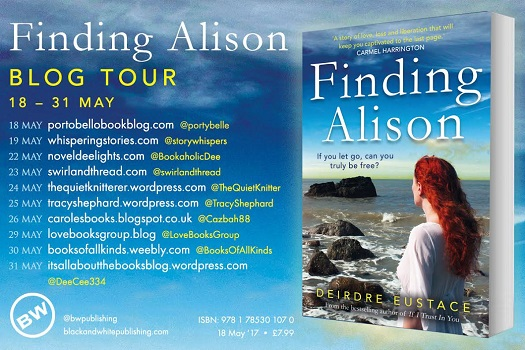 Finding Alison by Deirdre Eustace tour poster