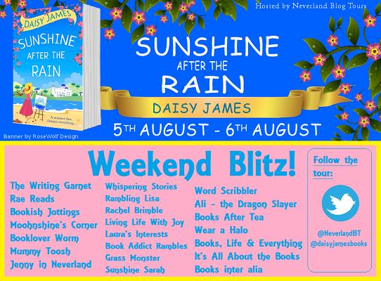 Blog tour Sunshine after the rain schedule