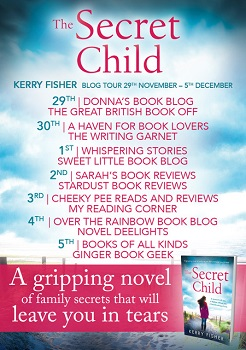 The Secret Child by Kerry fisher tour poster