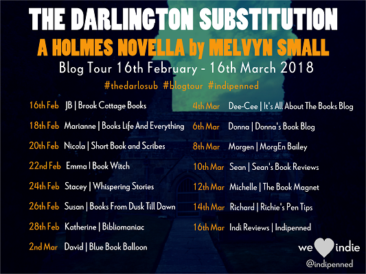 Darlington Substitution Blog Tour poster