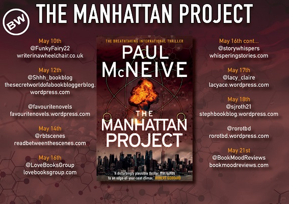 The Manhattan Project blog tour banner