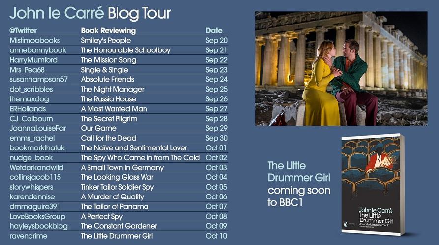 John le Carre - Blog Tour Card