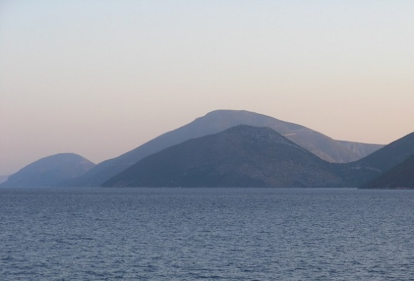 Ithaki with Mt Neriton from the southwest