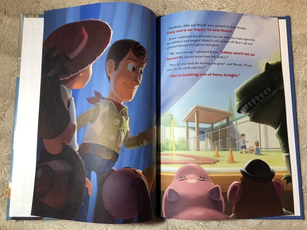 Inside toy story three book