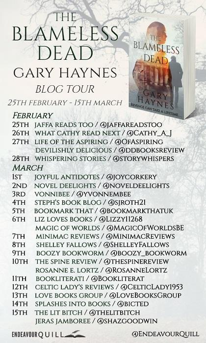 The Blameless Dead Blog Tour Schedule